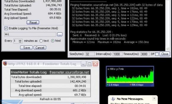 FreeMeter Bandwidth Monitor Ekran Görüntüleri - 1