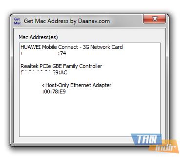 Get Mac Address Ekran Görüntüleri - 1