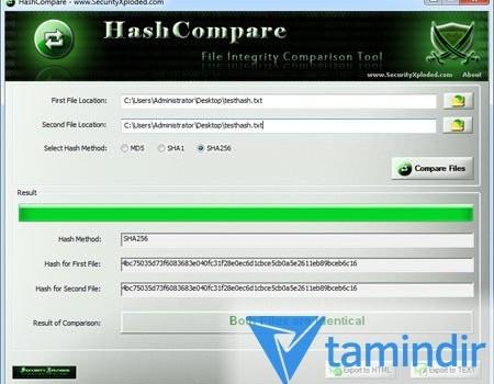 Hash Compare Ekran Görüntüleri - 1