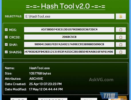 Hash Tool Ekran Görüntüleri - 1