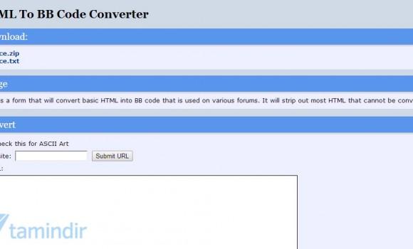 HTML To BB Code Converter Ekran Görüntüleri - 1