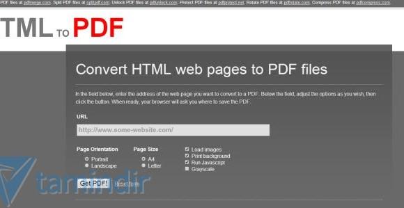 HTMLtoPDF Ekran Görüntüleri - 1