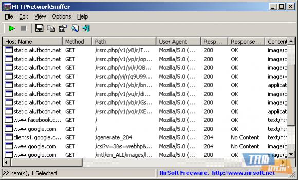 HTTPNetworkSniffer Ekran Görüntüleri - 1