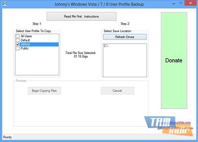 Johnny's User Profile Backup Ekran Görüntüleri - 1