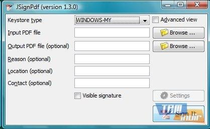 JSignPdf Ekran Görüntüleri - 1