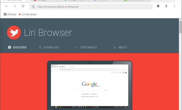 Liri Browser Ekran Görüntüleri - 1