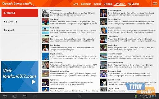 London 2012 Results App Ekran Görüntüleri - 1