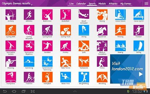 London 2012 Results App Ekran Görüntüleri - 4
