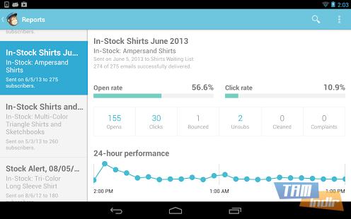 MailChimp for Android Ekran Görüntüleri - 1