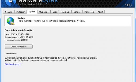 Malwarebytes Anti-Malware Ekran Görüntüleri - 1