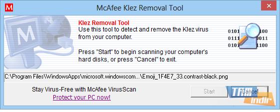 McAfee Klez Removal Tool Ekran Görüntüleri - 1