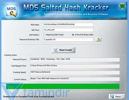 MD5 Salted Hash Kracker Ekran Görüntüleri - 2