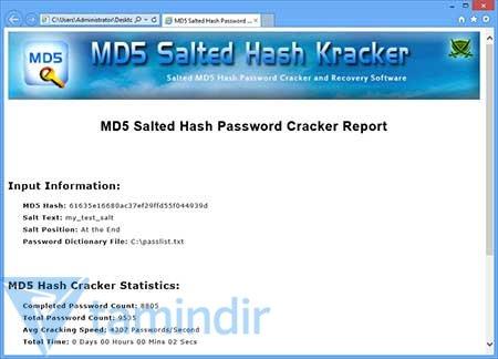 MD5 Salted Hash Kracker Ekran Görüntüleri - 1
