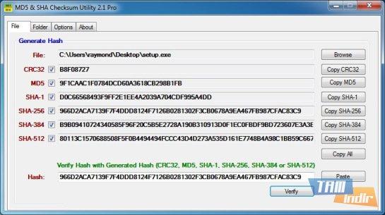 MD5 & SHA Checksum Utility Ekran Görüntüleri - 2