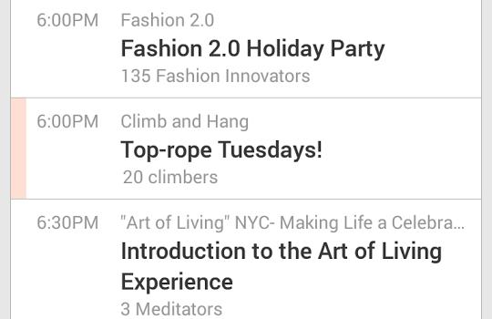 Meetup Ekran Görüntüleri - 5