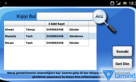 Mertsoft - Toplu SMS Ekran Görüntüleri - 3