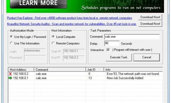 NetTaskExec Ekran Görüntüleri - 1