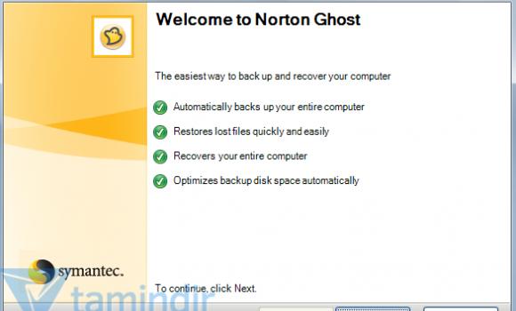 Norton Ghost Ekran Görüntüleri - 3