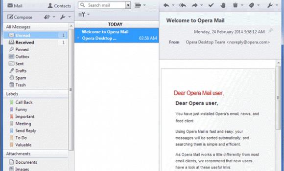 Opera Mail Ekran Görüntüleri - 1