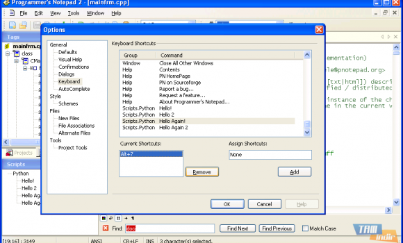 Programmer's Notepad Ekran Görüntüleri - 3