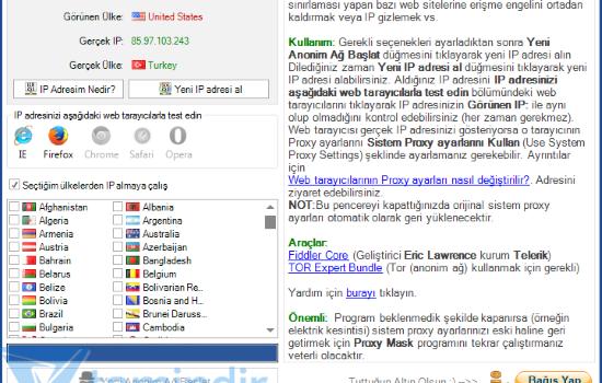 Proxy Mask Ekran Görüntüleri - 2