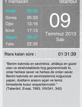 Ramazan İmsakiye 2013 Ekran Görüntüleri - 1