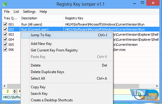 Registry Key Jumper Ekran Görüntüleri - 4