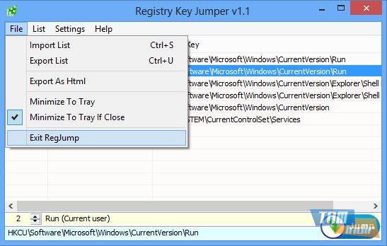 Registry Key Jumper Ekran Görüntüleri - 3