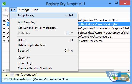 Registry Key Jumper Ekran Görüntüleri - 2