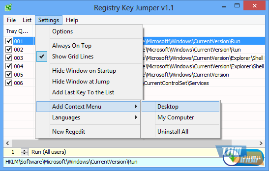 Registry Key Jumper Ekran Görüntüleri - 1