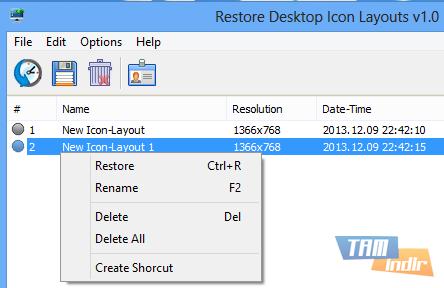 Restore Desktop Icon Layouts Ekran Görüntüleri - 4