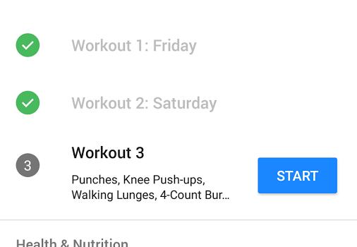 Runtastic Results Training Ekran Görüntüleri - 1
