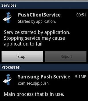 Samsung Push Service Ekran Görüntüleri - 1