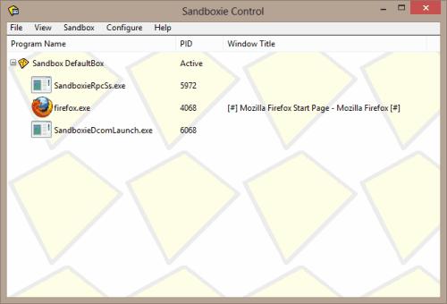 Sandboxie Ekran Görüntüleri - 3