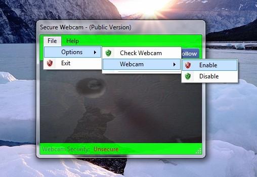 Secure Webcam Ekran Görüntüleri - 1