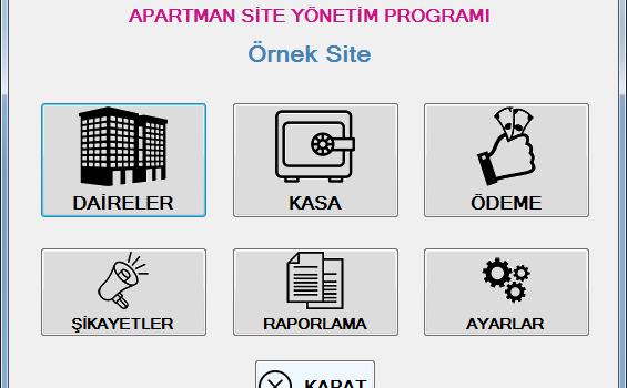 Site ve Apartman Yönetim Programı Ekran Görüntüleri - 1