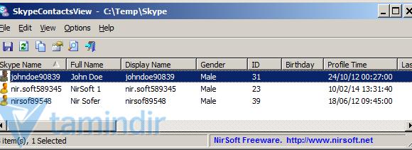 SkypeContactsView Ekran Görüntüleri - 1