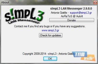 s!mpL3 LAN Messenger Ekran Görüntüleri - 4