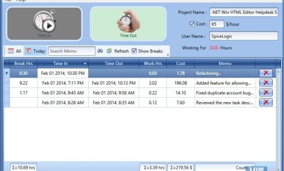 SpiceLogic Work Time Tracker Ekran Görüntüleri - 1