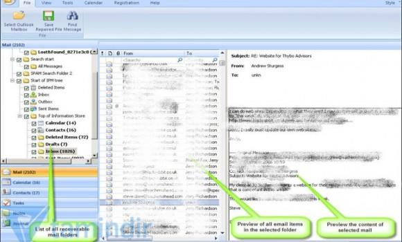 Stellar Phoenix Outlook PST Repair Software Ekran Görüntüleri - 3