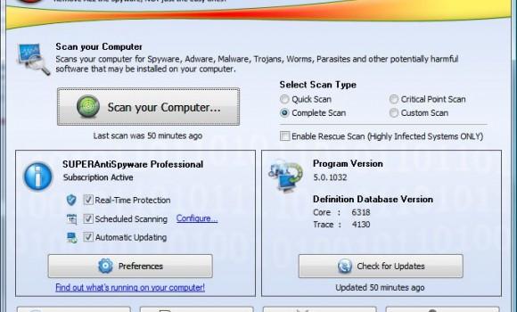 SUPERAntiSpyware Tech Edition Ekran Görüntüleri - 5