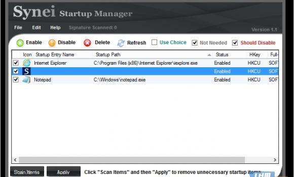 Synei Startup Manager Ekran Görüntüleri - 2