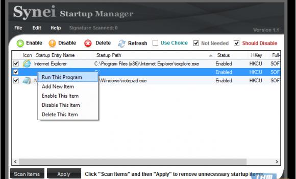 Synei Startup Manager Ekran Görüntüleri - 1