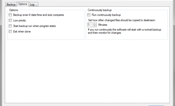 TSR Continuously Backup Free Ekran Görüntüleri - 2