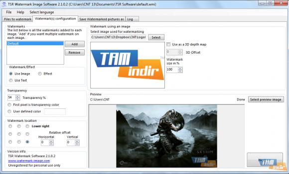 TSR Watermark Image Software Ekran Görüntüleri - 2