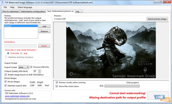 TSR Watermark Image Software Ekran Görüntüleri - 1