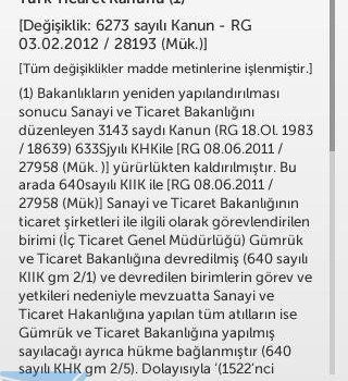 Türk Ticaret Kanunu - Yeni TTK Ekran Görüntüleri - 5