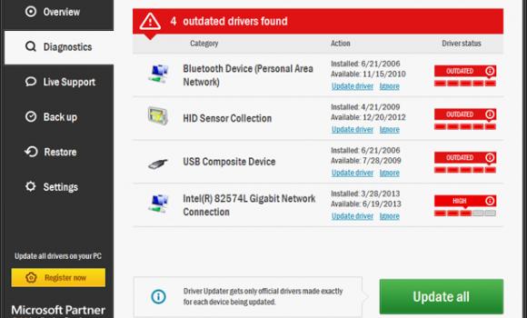 TweakBit Driver Updater Ekran Görüntüleri - 1
