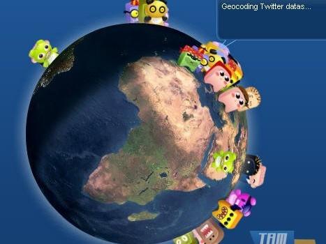 TwittEarth Ekran Koruyucu Ekran Görüntüleri - 1