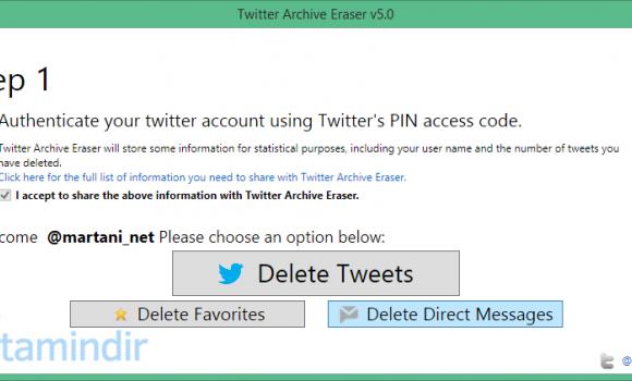 Twitter Archive Eraser Ekran Görüntüleri - 2
